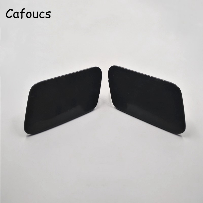 Cafoucs Car Headlamp Water Spray Jet Cover For Citroen C5 2009-2012 Headlight Washer Nozzle Caps