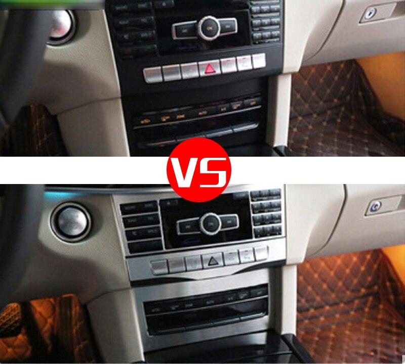2 Pieces Car styling Central Button Adjustment Panel Frame trim Sticker Accessories For Mercedes Benz E Class W212 2014 2015 aluminum alloy es button frame trim for mercedes benz e class w212 c207 e350 coupe 2013 2017 e200 e260 car accessories