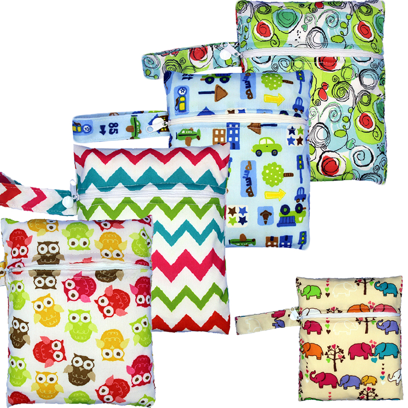 HTB1yj58be285uJjSZFwq6A.cVXaA Reusable Nursing Pads Single Zippers Sanitary Pads Washable Wet Bags Nappy Bags Printed Waterproof Wetbag Diaper Bags 16*20cm