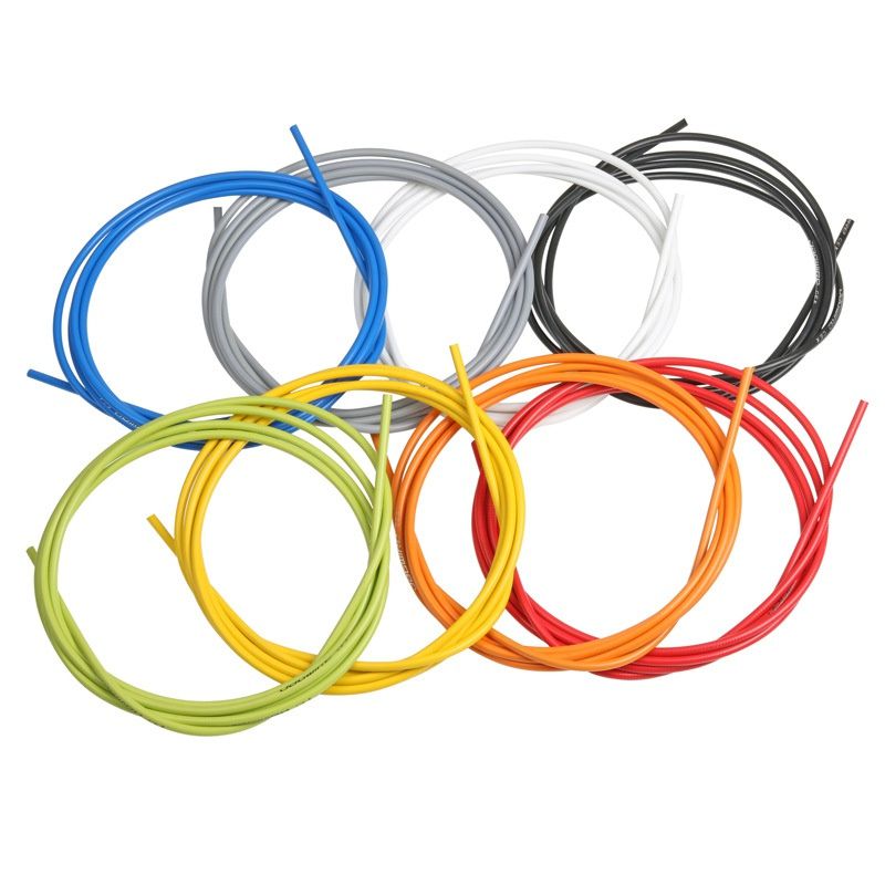 Bike Brake Cable Housing Tube Wire Cover Wrap Sleeve /& 6pcs Cables End Caps