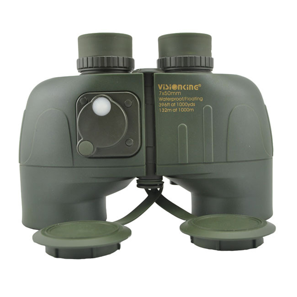 VISIONKING 7X50LL BAK4 Nautical Waterproof & Shockproof Floating Rangefinder Binoculars Navigation Telescope With Rangefinder