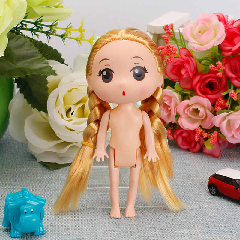 Kids Toys 12cm Interactive Baby Dolls Toy Gold Hair Mini Doll for Girls and Boys Hot Dolls for Girls Toys