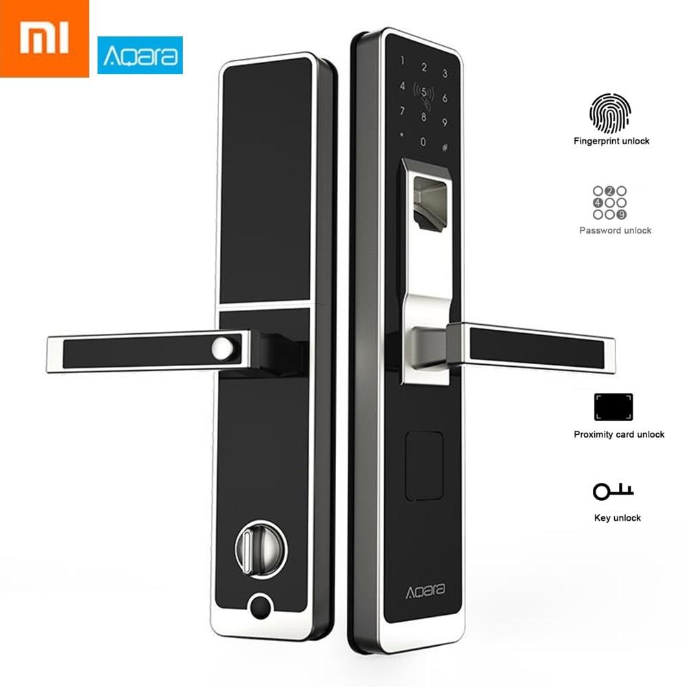 D'origine Xiaomi Aqara Smart Porte Tactile Verrouillage Zigbee Connexion pour La Maison Sécurité Anti-Espion Conception Prend En Charge iOS Android