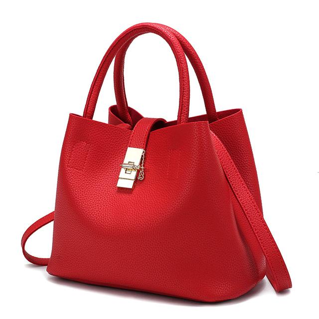 2016 New Bags Handbag Women Fashion Autumn Shoulder Bag Designer Handbags High Quality PU Leather Ladies Bucket Casual Tote Bag