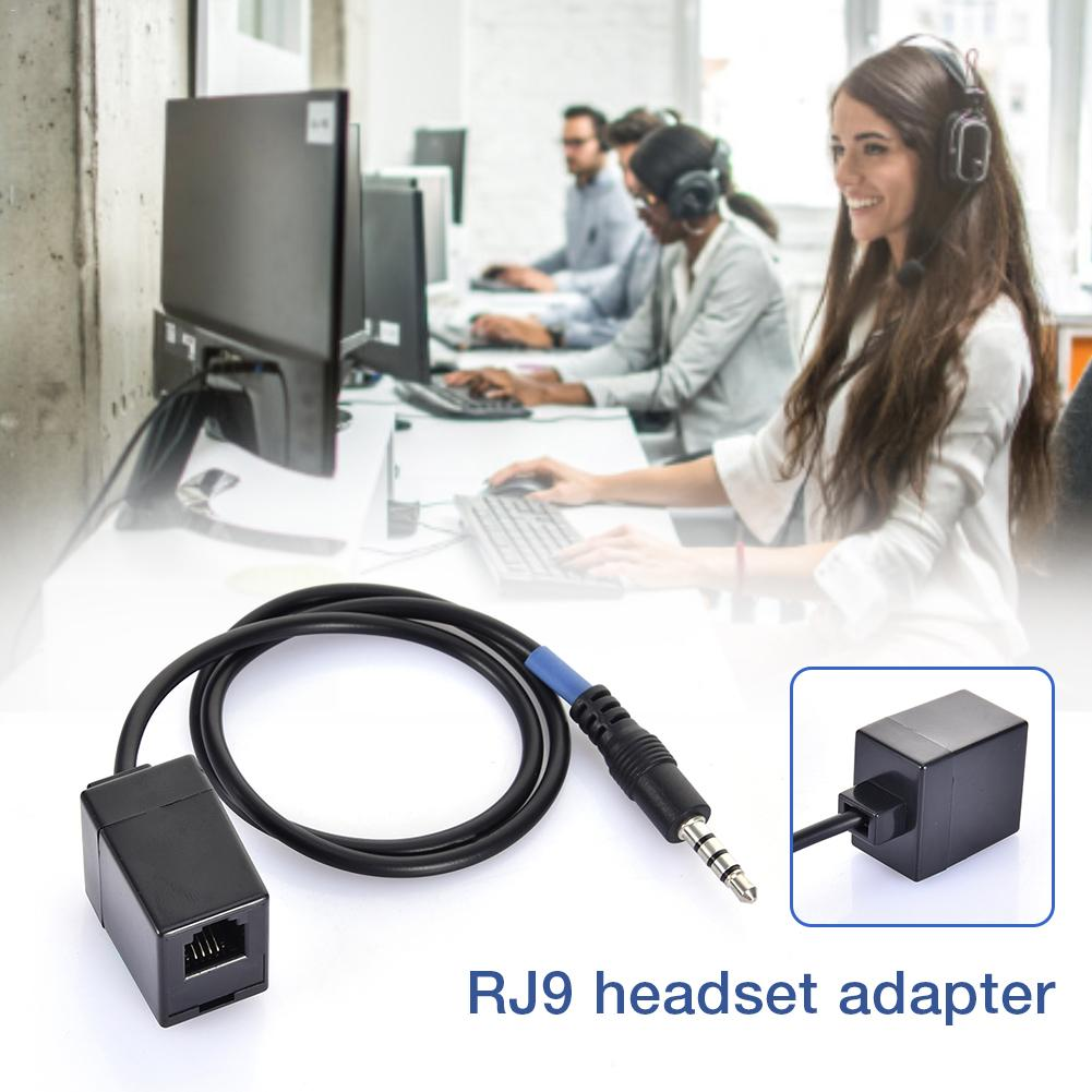 3.5MM TRRS Revolution RJ9 Telephone Wiring 4P4C Headset Converter Female Extension Phone Cable RJ9 To 3.5MM Adapter