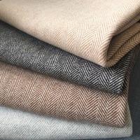 80% wool Double sided herringbone fabric pattern woolen cashmere coat jacket fabrics wholesale 580gsm