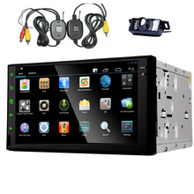 Android 4.4 Touch Screen Car Stereo EQ No-DVD Tablet Logo 7″ Audio Sub 4-Core Auto Radio USB GPS BT APP System
