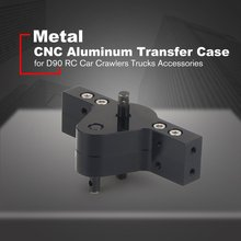CNC Aluminum Transfer Case Gear Box for D90 SCX10 RC4WD RC Car Crawlers Trucks Components Spare Parts Accessories