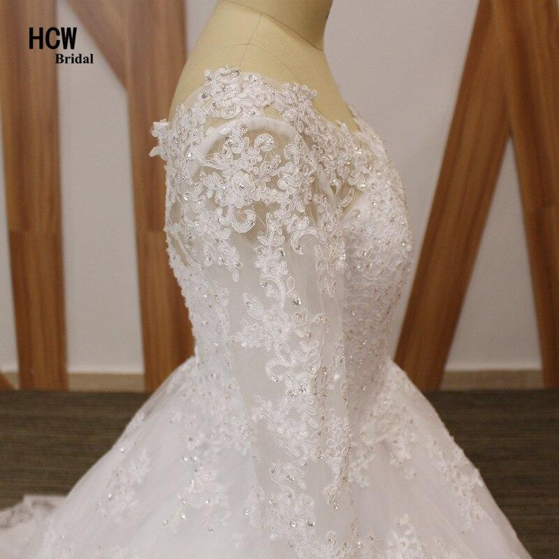 Brīnišķīgas kāzu kleitu ar garām piedurknēm mežģīnes - Kāzu kleitas - Foto 5