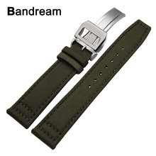 Canvas Nylon + Genuine Leather Watchband 20/21/22mm for IWC