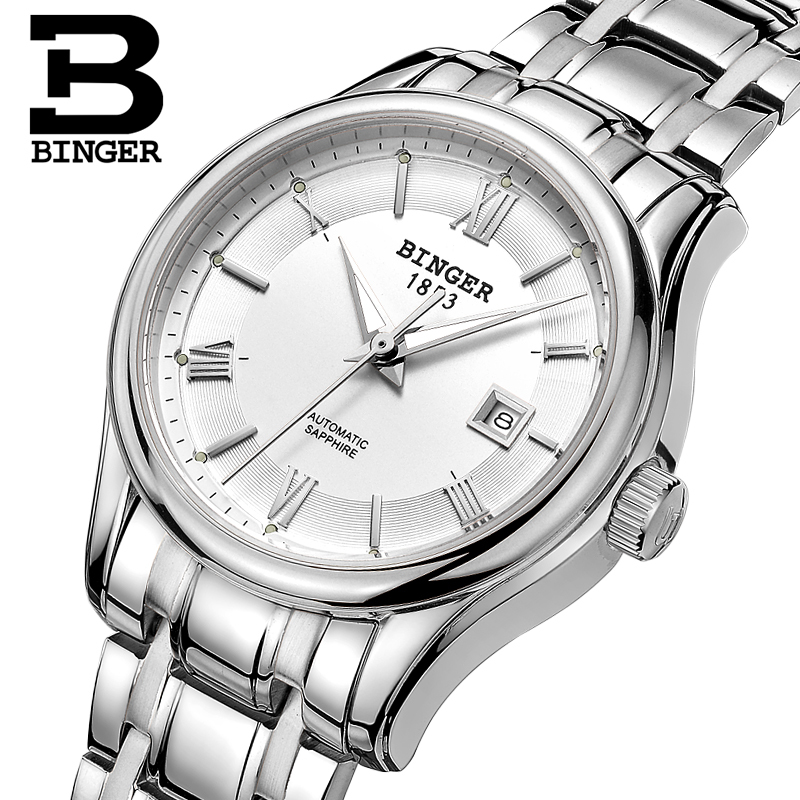 Switzerland BINGER Women's Watches Luxury Brand Watch Women Mechanical Wristwatches Sapphire Stainless Steel Montre Femme B5002L