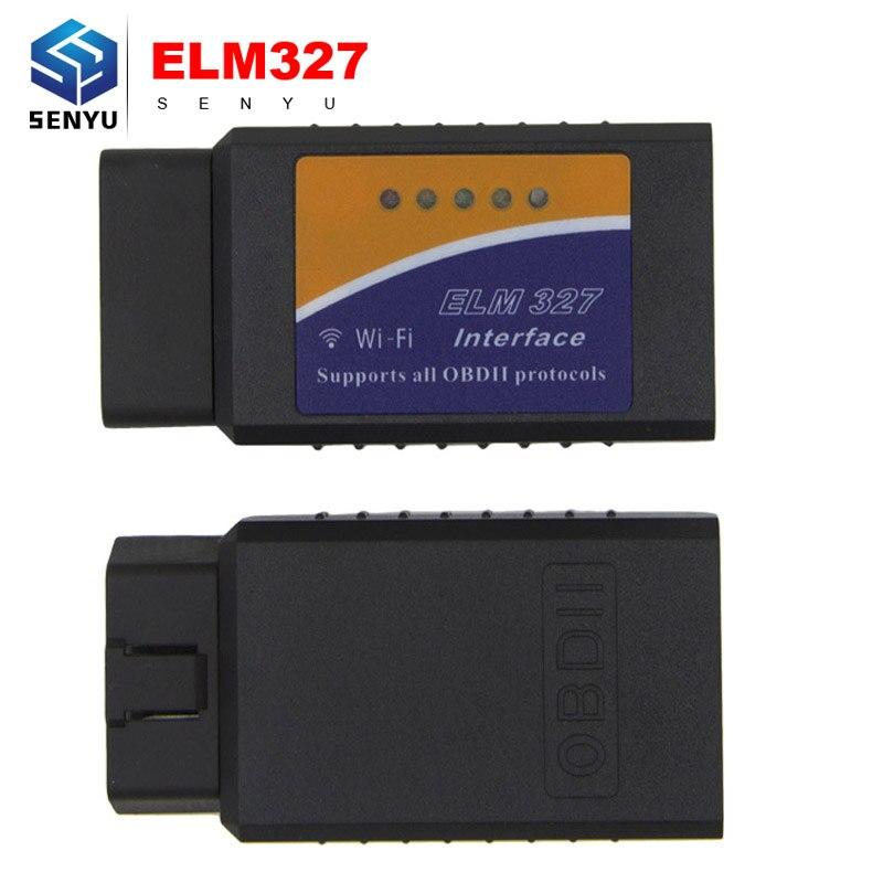 Prix pour ELM327 v1.5 wifi OBD OBD2 Voiture De Diagnostic Scanner elm 327 wifi 1.5 OBDII WIFI Scanner pour Android/IOS V 1.5 Sans Fil