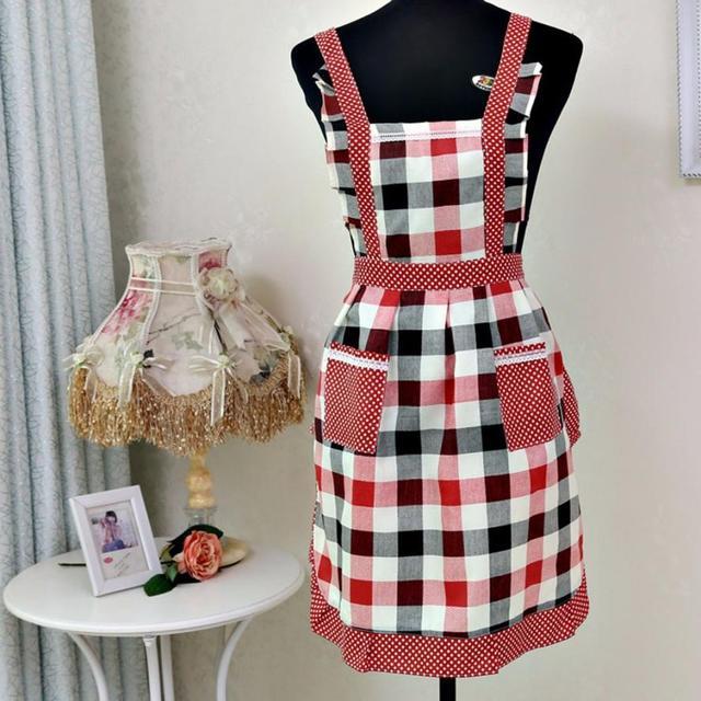 Saingace Women Lady Restaurant Home Kitchen For Pocket Cooking Cotton Apron Bib July16 Drop Shipping