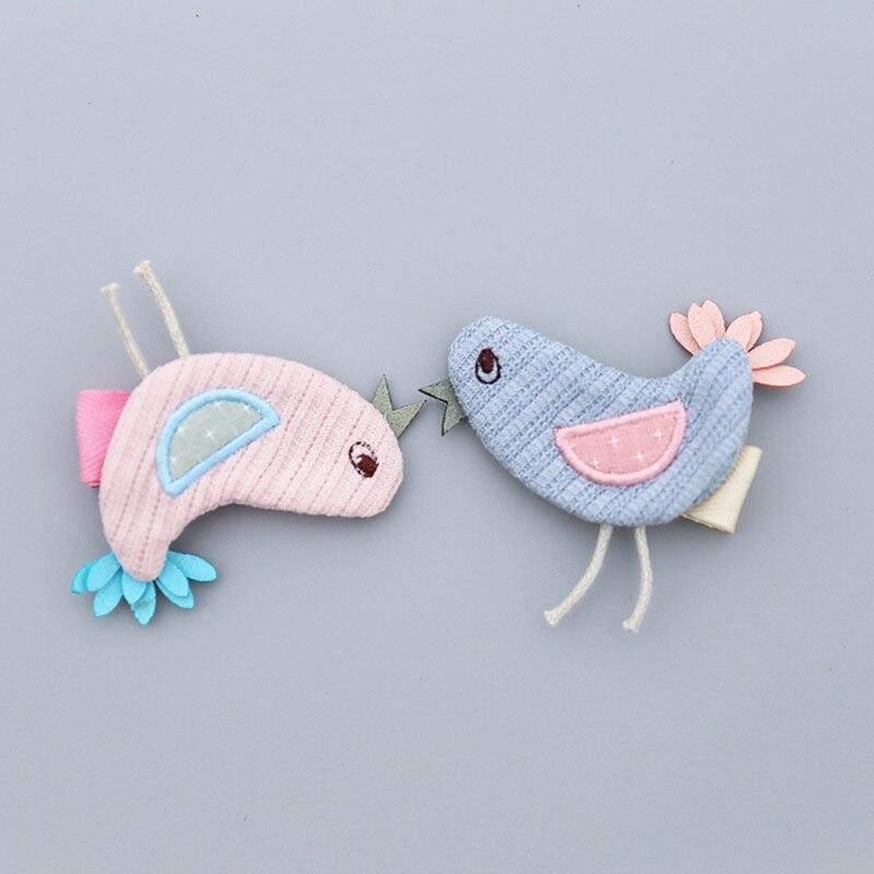 1 PCS New Cartoon Handmade Birds Girls Hair Clips Kids Hairpins Children Hair Accessories Princess   Headwear