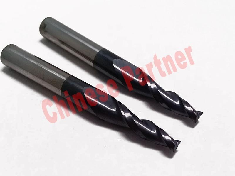 ̿̿̿(•̪ )5 unids/lote 4mm 8 grados HRC55 2 flautas Tapered extremo ...