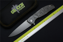 Green thorn F95 ball bearings folding knife D2 blade carbon fiber titanium handle camping hunting outdoor tools