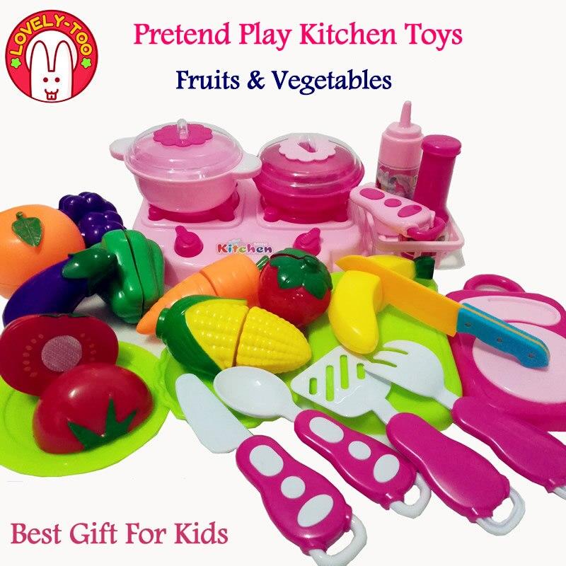 26 piezas corte juguetes alimentos frutas vegetales juguete Olastic ...