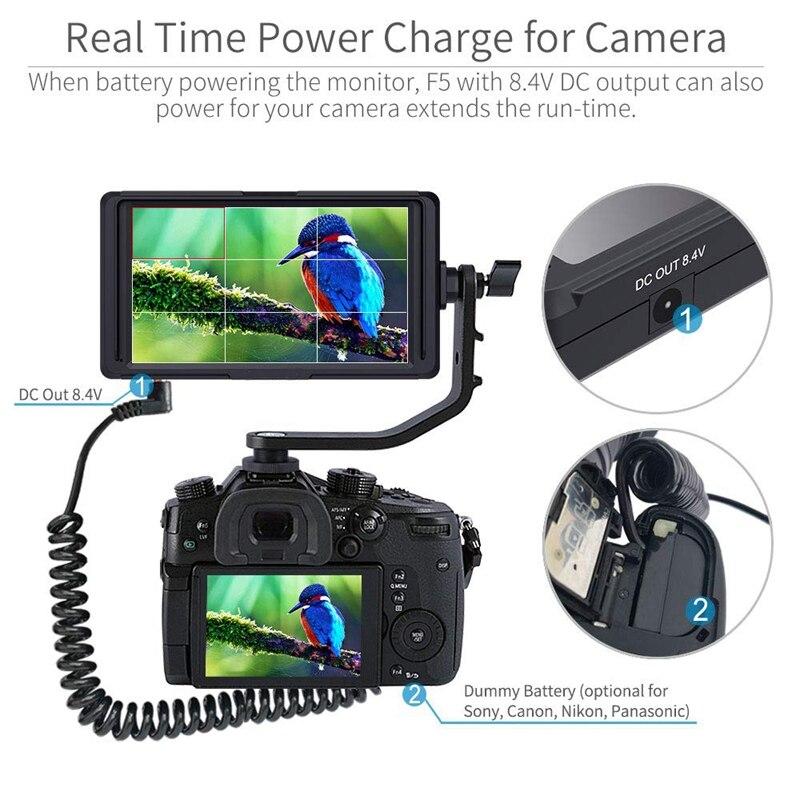 F5 5 дюймов Dslr на Камера полевой монитор маленький Full Hd 1920x1080 Ips видео усилением фокуса парктроник с 4K Hdmi 8,4 V Dc Вход Outpu #8