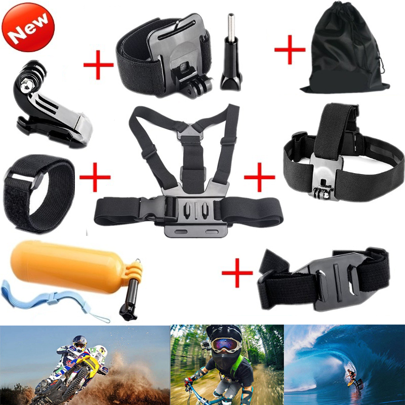 Action Cam Accessories for Gopro Hero 4/3 + 2 Chest Head Strap Floating Bobber Mount