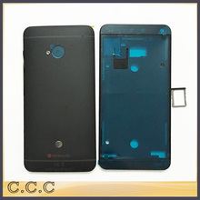 Original new complete full housing for HTC ONE M7 801e 801n 801s battery back case + front plate with sim card tray port