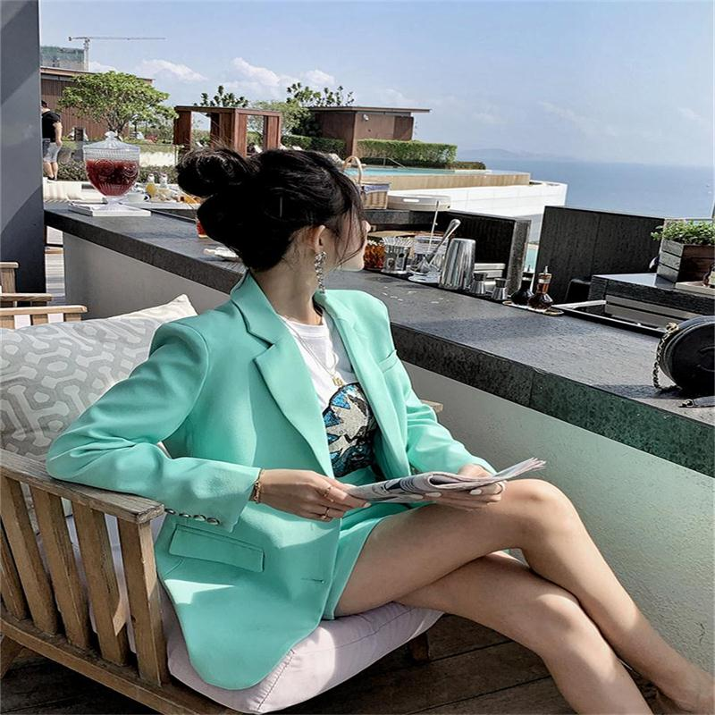 New Europe And America High Quality Net Red Small Suit Suit Female Short Skirt Spring Temperament Fashion Casual