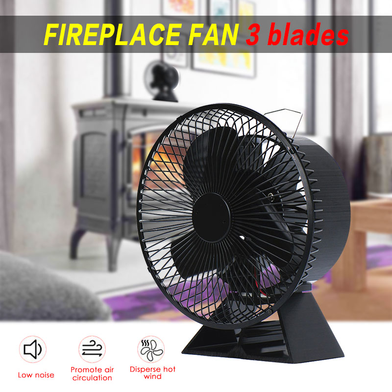 VODA New Design Fireplace Fan 3 Blade Thermal Power Furnace Fan About 175 CFM With Protective Cover For More Safety And Comfort
