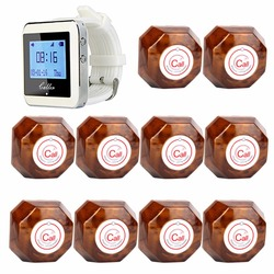 Coffee Shop Guest Call Pagers Wireless Waiter Paging Calling System For Restaurant Hotel With One-Key Transmitter Button F3288B