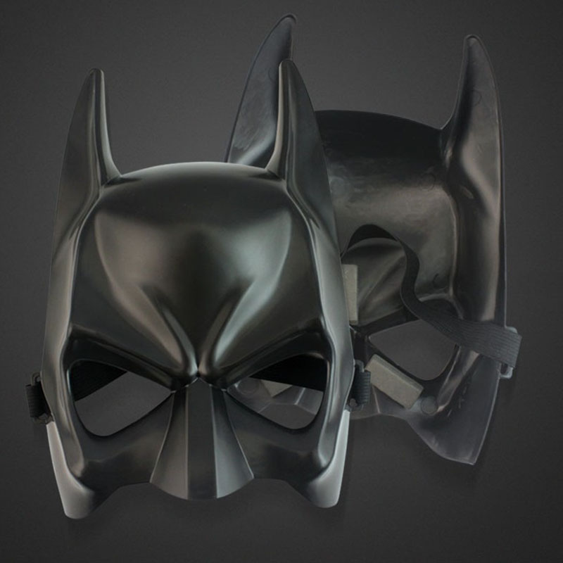 LITIST Halloween Batman Mask Cos Dark Knight Rise Party Party Mask Latex Headgear Prom Party Mask Black 1PCS