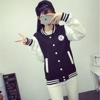 Mainlead Exo Xoxo Wolf Growl Baseball Uniform Jackets With Name Hoodie Black