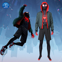 Manluyunxiao Spider Man Into The Verse Costume for Kids  Halloween Cosplay Anime Sneak Suit Jumpsuit Rompers Jackets