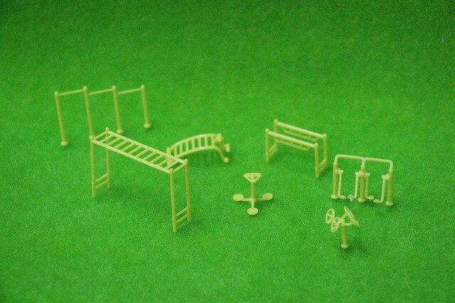 Model plastic park fitnessapparatuur voor tuin layout in model