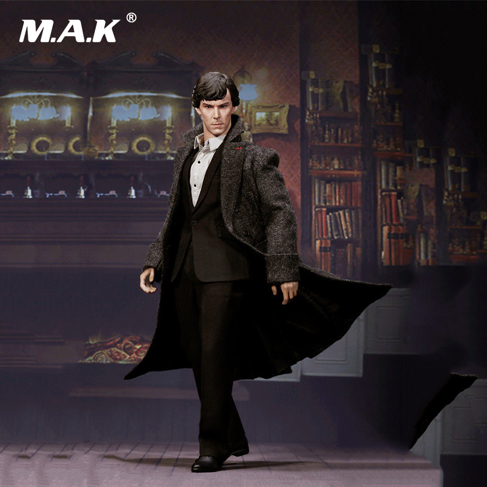 1/6 EX015 British Detective Sherlock Holmes Benedict Cumberbatch Full Set Action Figure   for Collection dayle a c the adventures of sherlock holmes рассказы на английском языке
