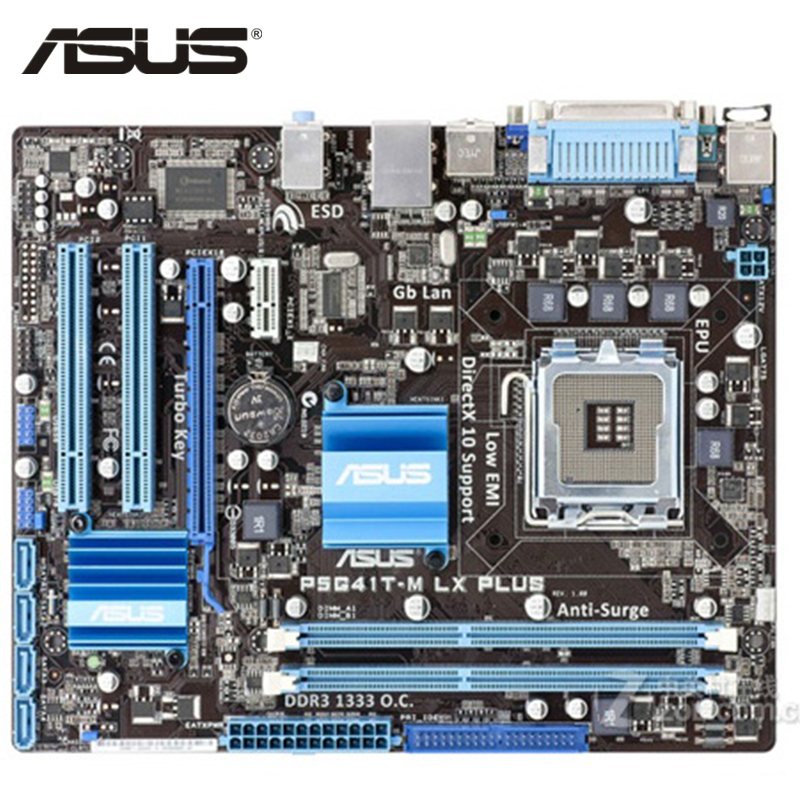 ASUS P5G41T-M LX Plus Motherboard LGA 775 DDR3 8GB For Intel G41 P5G41T-M LX Plus Desktop Mainboard Systemboard PCI-E X16 Used asus m5a97 plus motherboard ddr3 for amd 970 m5a97 plus desktop mainboard systemboard usb 2 0 sata iii pci e x16 used