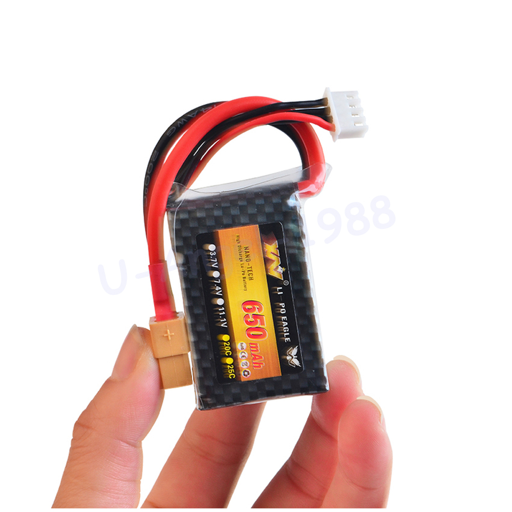 1pcs Rc <font><b>Lipo</b></font> Battery 11.1v <font><b>650MAH</b></font> 25c <font><b>3S</b></font> For Nine Eagle 250 mini fixed-wing RC Helicopter Car Boat quadcopter image
