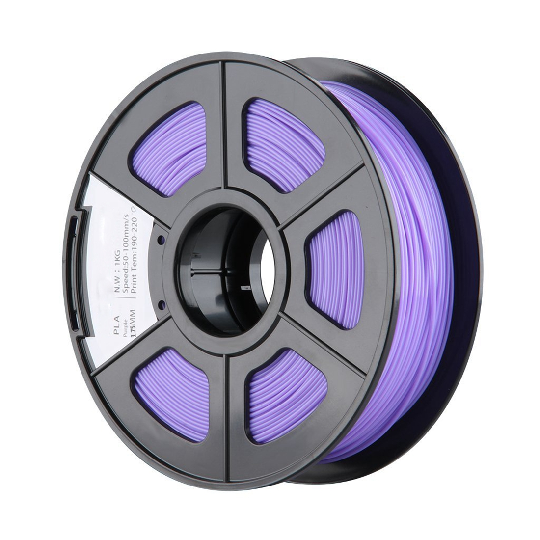 New 1.75mm PLA 3D Printer Filament - 1kg Spool (2.2 lbs) - Dimensional Accuracy +/- 0.02mm - Multi Colors Available (Purple)