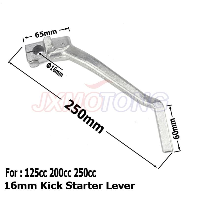 Silver 13mm Kick Start Lever 50cc 110cc 125cc 140cc Pit Dirt Bike Kickstarter