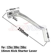 16 мм пусковой рычаг стартера для Lifan YX Pit Dirt Bike CB/CG 200cc 250cc Thumpstar Запчасти для мотокросса