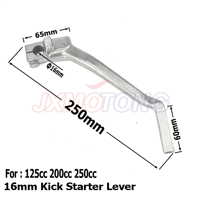 16mm Kick Starter Lever Start For <font><b>Lifan</b></font> YX <font><b>Lifan</b></font> YX Pit Dirt Bike CB/CG <font><b>200cc</b></font> 250cc Thumpstar Motocross Parts image