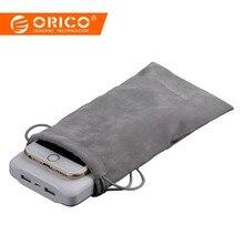 ORICO Kadife 180x100mm Cep Telefonu HDD Çanta Depolama için USB şarj aleti USB kablosu Güç Bankası Telefon saklama kutusu kılıf ...