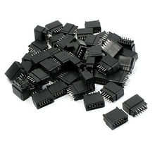 50 Pcs 2.54mm Pitch IDC Type Card Edge Plug Pins Connector 8 Pins цена