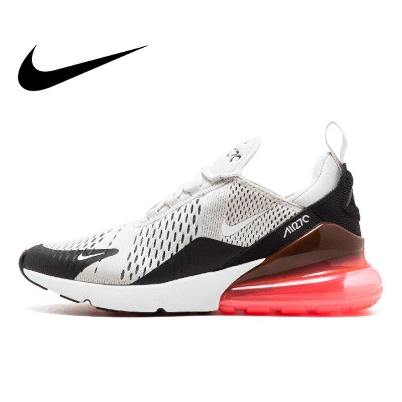 Original auténtico Nike Air Max 270 hombres zapatillas de deporte Zapatillas de deporte al aire libre cómodo transpirable buena calidad AH8050