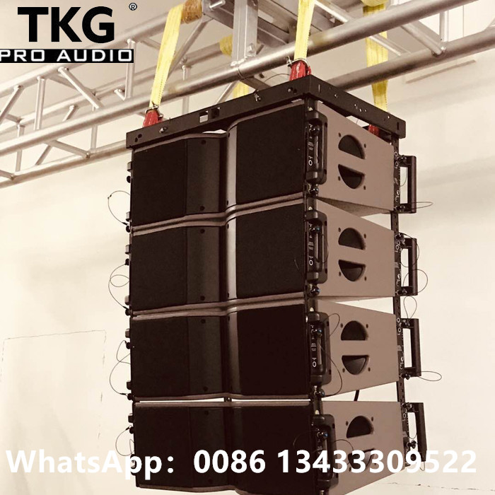 TKG MF 400W HF 80W dual 8 inch LA KARA208 neodymium magnet performance outdoor speaker line array professional
