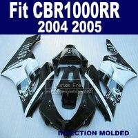 Custom ABS Injection fairing set for Honda 2004 2005 CBR1000RR CBR 1000 RR 04 05 CBR 1000RR white black fairings kits