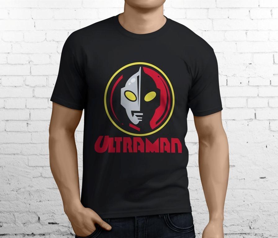 Ultraman tokusatsu японский ТВ шоу аниме Для мужчин черный футболка Размеры S-3XL