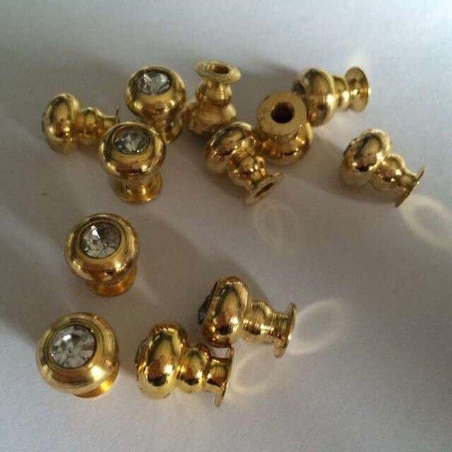 20PCS 11mm Golden Little Cabinet Drawer Knob Jewelry Box Wooden