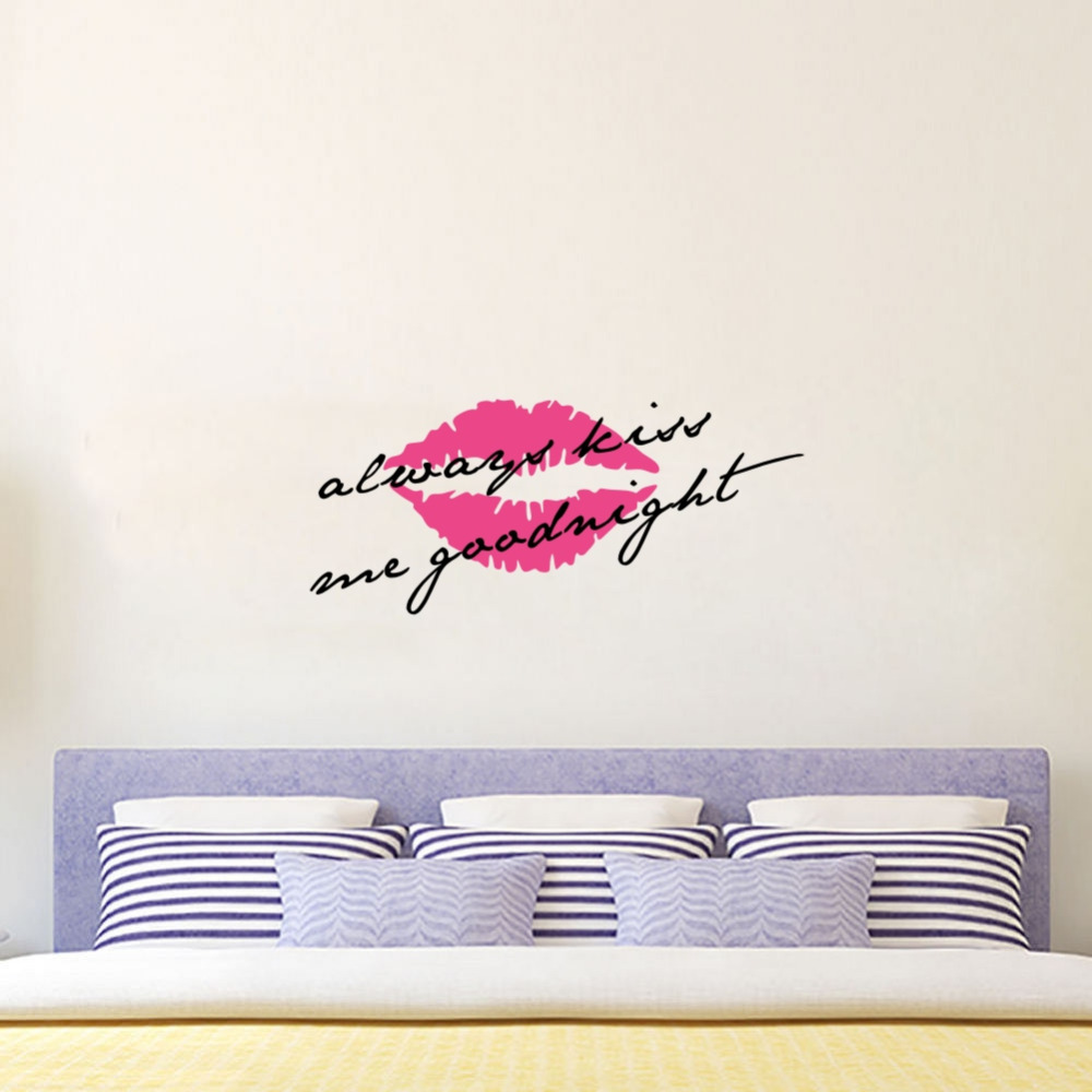 Love Quote Always Kiss Me Goodnight Wall Stickers Sexy Lips Vinyl Decals  For Living Room Bedroom Decor In Wall Stickers From Home U0026 Garden On  Aliexpress.com ... Part 79