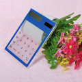 Free Shipping Transparent Calculator Multi-color 8 Digit LCD Solar Calculator Touch Screen Counter Calculating Tool