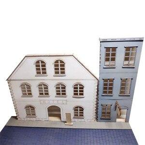 Image 2 - Масштаб 1/35, европейские городские уличные сцены, деревянная сборка, Набор для творчества