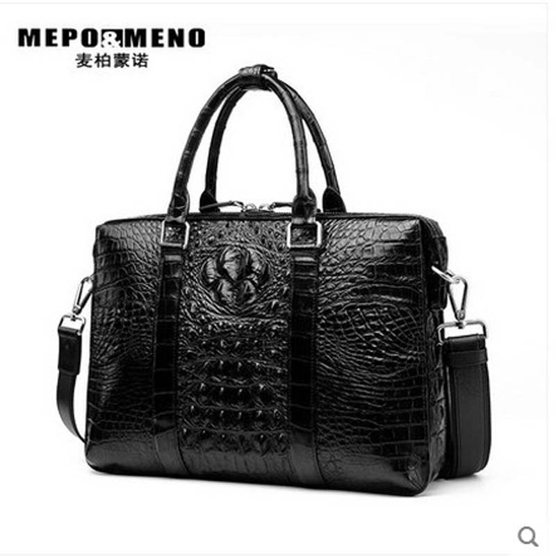 maibomengnuo crocodile Men's bags large capacity business handbag men's crocodile leather high-end briefcase Europe and America
