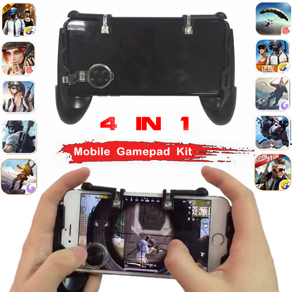 PUGB/PUBG Mobile Gamepad Controller Joystick L1 R1 Triggers Button for Android Phone iPhone Joysticks L1R1 Mobile Game Pad Kit image